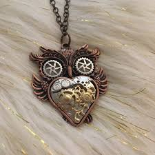 steampunk owl necklace images Handmade jewelry steampunk owl necklace poshmark jpg