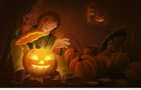 cute happy halloween background