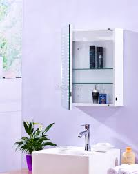 foxhunter 1 door led illuminated mirror bathroom cabinet storage