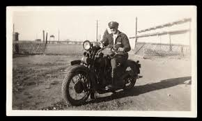police uniform man rural cop w harley davidson motorcycle 1930