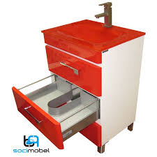 Vanity Company Socimobel 24 Inch Red White Yane Modern Bathroom Vanity