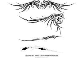 wings and ornament free vector stock