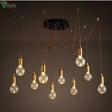 Diy Led Chandelier Modern Simple Glass Diy Led Chandeliers Lustre Copper Loft Bar Led
