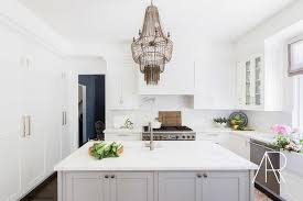 Maxim Chandelier Rosenheck White And Gray Kitchen With Arteriors Maxim Chandelier