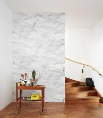 faux tile marble wallpaper u2014 decor8