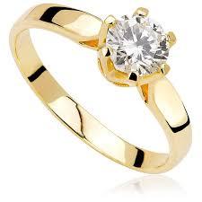 pierscionek zareczynowy pierścionek zaręczynowy z diamentem z żółtego złota p0213zb