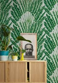 Feather Wallpaper Home Decor Feather Palm Wallpaper In Aloha From The Kingdom Home Collection