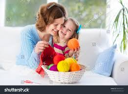 mother daughter knitting woolen scarf mom stock photo 380951977