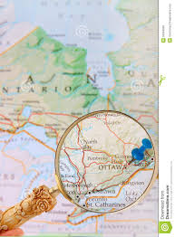 Ottawa Canada Map Looking In On Ottawa Ontario Canada Stock Photo Image 50306658