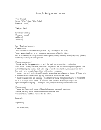 How To Write A Resignation Letter Template Sample Of A Good Resignation Letter Pdf Cover Letter Templates