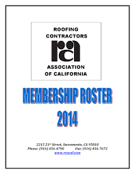 Baker Roofing Stockton Ca by 2014 Rcac Roster By Marc Connerly Issuu