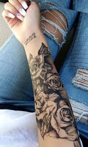nail black forearm ideas for floral