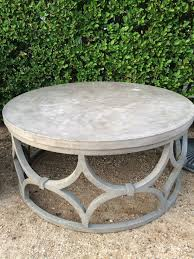 grey round coffee table grey round traditional carved cement concentrate outdoor round