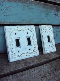 shabby chic switch plate cover set iron by primitivepincushion