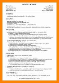 Pharmacy Intern Resume Sample 10 Example Resume For College Student Letter Signature