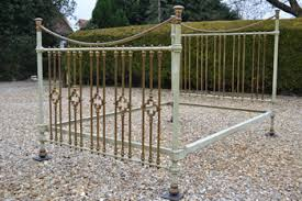 Brass Double Bed Frame Coast To Country Antique Bedsteads French Beds Victorian Brass And