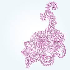 indian henna floral ornament vector free