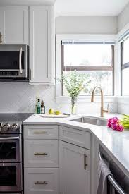white shaker corner kitchen cabinet quartz countertops nj deal fabricator installer wayne