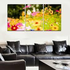 Peinture Moderne Pour Salon by Aliexpress Com Acheter Cuadros Decoracion 3 Panneaux Fleur New