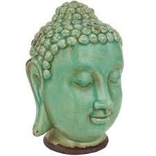 Decorative Buddha Head Oriental Furniture 10 In Porcelain Thai Buddha Head Decorative