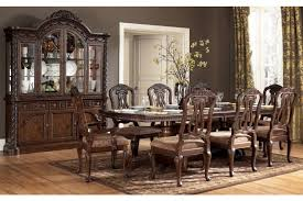north shore double pedestal dining set by ashley home elegance usa