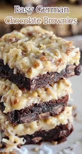 easy german chocolate brownies recipes pinterest german
