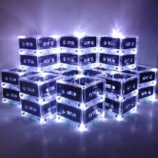 any color 10 mixtape cassette tape light centerpieces for 80s