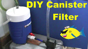 how to make diy canister filter aquarium filter youtube