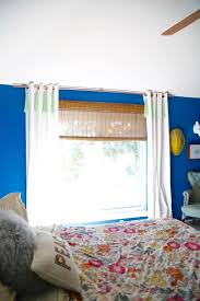 Make Curtains Out Of Sheets Our Homemade Copper Curtain Rod Love U0026 Renovations