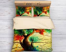 tree duvet cover etsy