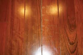 gaps appear in a wood floor after a restoration wood
