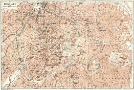 map brussels map of brussels bruxelles in 1909 buy vintage map replica
