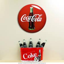 coca cola contour bottle metal button sign diner decor