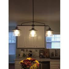 3 pendant light fixture island home lighting design