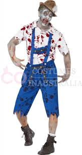 Bavarian Halloween Costumes Zombie Bavarian Male Costume Lederhosen Shorts Braces