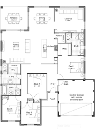 Cinema Floor Plan by Five Bedroom House Plans Open Floor Plans One Story Crtable