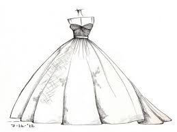 drawing wedding dresses wedding dress drawings webshop nature