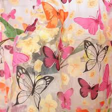 Washable Curtains Online Shop Newest Burnout Butterflies Pattern Washable Curtains