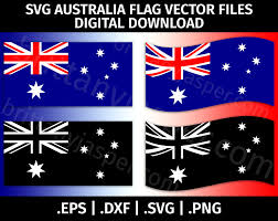Australia Flags Australia Flag Svg Vector Clip Art Cutting Files For Cricut