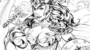 coloring dc wonder woman dc