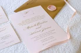 wedding invitations rose blush shimmer and gold foil wedding invitation with rose gold wax