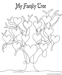 awesome design ideas family tree coloring pages printable our