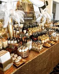 Opulent Great Gats Party Decorations With Lots Plush Accents