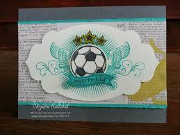 megumi u0027s stampin retreat great sport soccer birthday card u0026 big