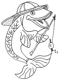 coloring page fishing color pages coloring of fish tank kids for