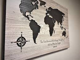 Etsy World Map by Religious Wall Decor World Map Wall Art Carved Biblical Passage
