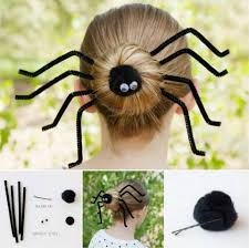 wonderful diy halloween spider bun hairstyle diy halloween
