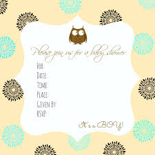 free baby shower invitation printable baby boy owl free