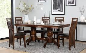 Java Dining Table Chatsworth Java Extending Wood Dining Table 4 6 Chairs