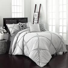 Grey California King Comforter Shop Vue By Ellery Cersei 3 Piece Grey King Comforter Set At Lowes Com